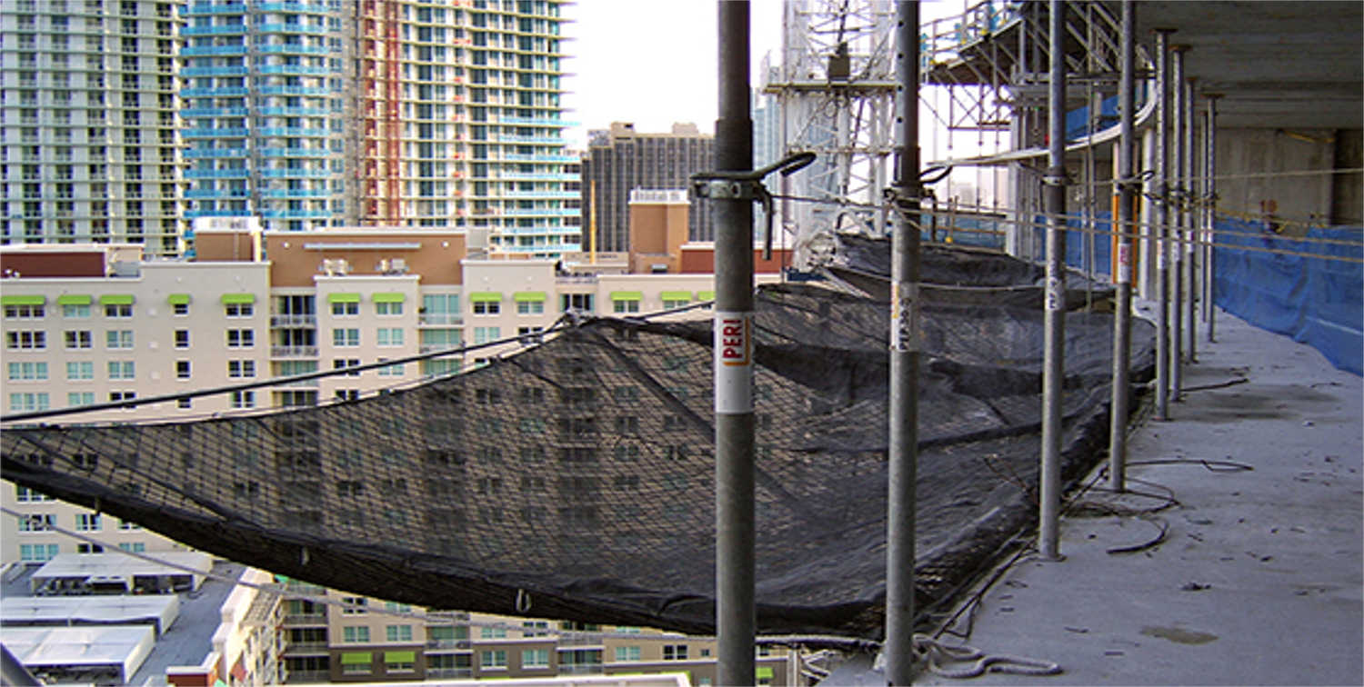 Netting for Debris Containment, Scaffolding, Work Platforms and Truck Loading